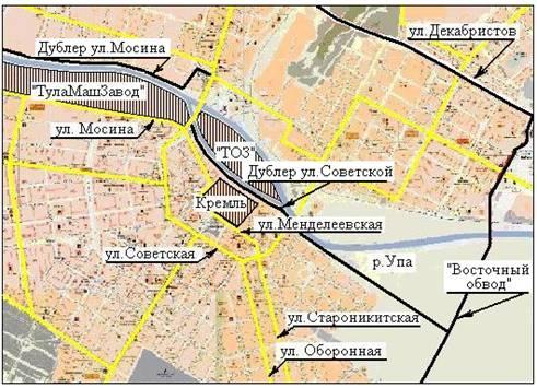 Схема магистралей, дублирующих